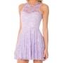 Fresh Candy Color Plain Lace Sleeveless Babydoll Dress
