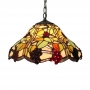 16 Inch Wide Country Style Grape Motif One-light Tiffany Hanging Pendant Light