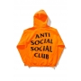 Unisex ANTI SOCIAL SOCIAL CLUB Letter Printed Back Hooded Long Sleeve Hoodie Sweatshirt