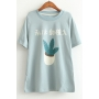 Japanese Printed Round Neck Short Sleeve Summer's Cotton T-Shirt