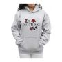 Chic Floral Letter Pattern Casual Long Sleeve Hoodie with Pockets