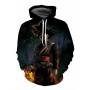 New Arrival Cartoon Print Long Sleeve Hoodie in Loose Fit with Pockets
