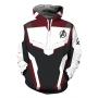 The Avengers New Stylish Quantum Battle Suit Cosplay Costume Sport Casual White Drawstring Hoodie