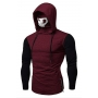 Call of Duty Mens New Trendy Patched Long Sleeve Zip Side Skull Mask Hooded T-Shirt