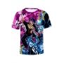 Hot Popular JoJo Theme Comic Figure Print Summer Short Sleeve Round Neck T-Shirt
