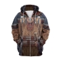 Indian Style Tribal Pattern Long Sleeve Zip Up Oversized 3D Hoodie